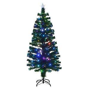 Arvore De Natal Com Fibra Otica 150cm 110/220v Natal Mabruk