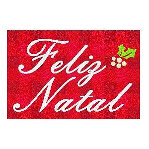 Capacho Natalino Feliz Natal Vermelho Mabruk