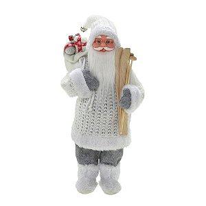 Papai Noel Branco Com Saco De Presente E Ski Natal Mabruk