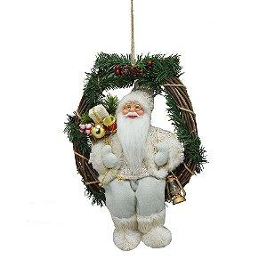 Guirlanda Natalina Com Papai Noel Branco Natal Mabruk