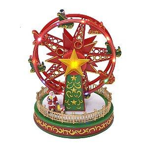 Roda Gigante Natalina Com Luzes Estrela E Som Natal Mabruk