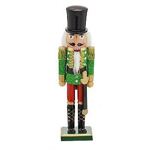 Soldadinho De Chumbo / Quebra Nozes Verde 38cm Natal Mabruk