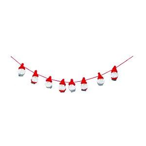 Cordão Faixa Boneco Natalino Vermelho Branco 1u Natal Cromus