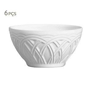Conjunto 6 bowl cestino branco porto brasil