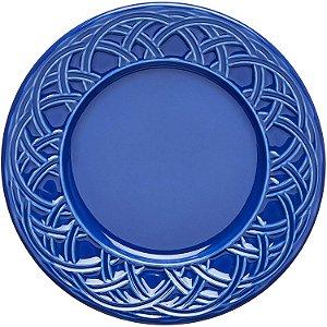 Conjunto Prato Sobremesa Cestino Azul Navy 6un Porto Brasil