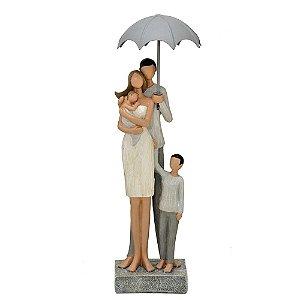 Estatua Mãe Com Os Filhos Família Decorativa Mabruk