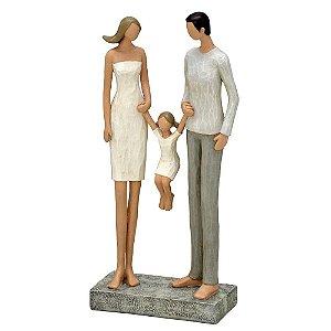 Estatua Familia Resina Bege 14x6,5x24cm Mabruk