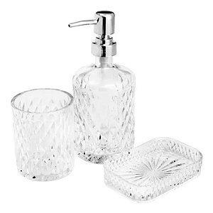 Conjunto para Banheiro 3 peças Vidro Litt Transparente