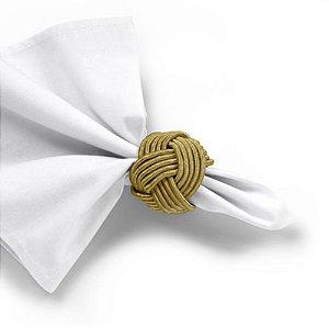 Argola de Guardanapo 4 Peças Traccia Ouro Dourado