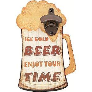 Abridor de Garrafa Madeira Beer Time Mart Collection