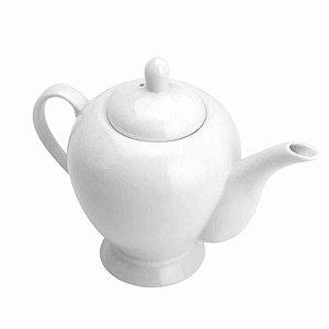 Bule Porcelana para Chá Liso Branco 24x14x20cm 1,1l Rojemac