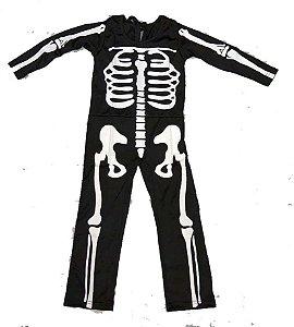 Macacão esqueleto comprido infantil