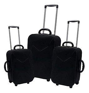 Conjunto de malas de viagem - Preto