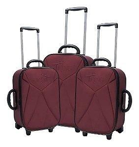 Conjunto de malas de viagem - Vinho