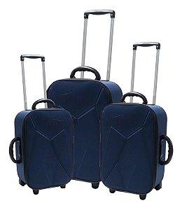 Conjunto de malas de viagem - Azul Marinho