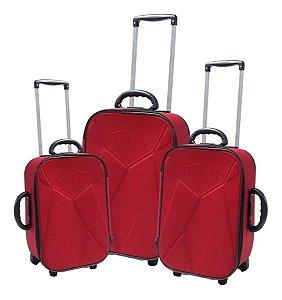 Conjunto de malas de viagem - Vermelho