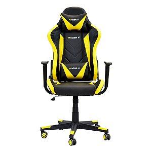 Cadeira Gamer Racer X Reclinável Amarela