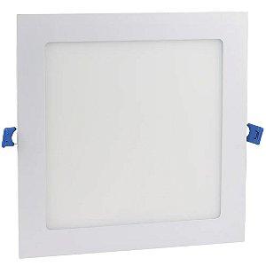 Luminária Plafon LED 18w Embutir Branco Frio