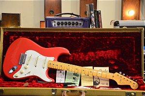 Guitarra Fender Stratocaster American Vintage Hot Rod 50s Fiesta Red