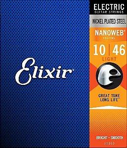 Jogo de Cordas Elixir 010 Nanoweb Guitarra