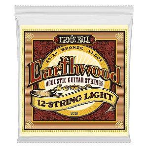 Jogo de Cordas Ernie Ball 12 cordas Earthwood Bronze 80/20 Violão Aço