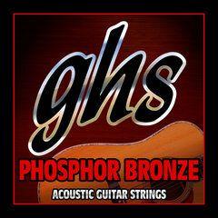Jogo de cordas GHS 012 Phosphor Bronze Violão Aço