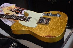 Guitarra Velha Guitarra TL 60 Hot Rod Relic Gold Sparkle