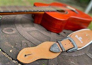 Correia 91 Guitars Caramelo 100% Couro
