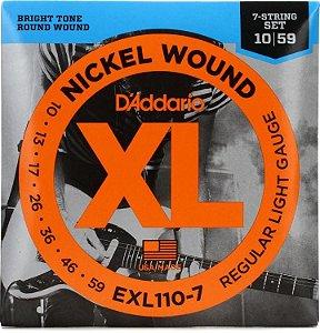 Encordoamento Daddario EXL110-7 Cordas