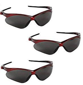Óculos de segurança Jackson Safety Nemesis Inferno-Moldura Vermelha/22611 Lentes de Fumaça