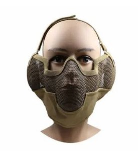 Máscara meia-face metal mais lateral Tático NTK