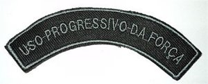 Listel bordado USO PROGRESSIVO DA FORÇA