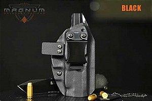 Coldre Magnum Velado Interno Iwb em KYDEX - GLOCK G19, G23, G25, G32, G38