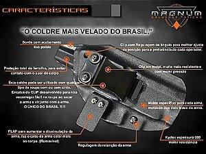 Coldre Magnum Velado Interno Iwb em KYDEX - TAURUS TS9
