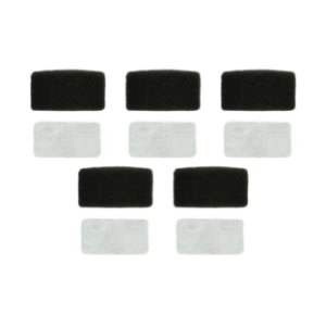 5 Filtros Espuma M.Series + 5 Filtos Ultra Fino Branco M.Series