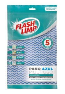 Pano Multiuso Flash Limp c/ 5 un