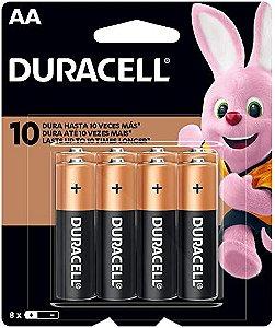 Pilha Alcalina Duracell AA c/ 8