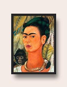 Quadro Frida Kahlo Autorretrato Com Macaco