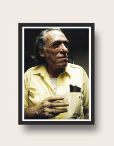 Quadro Bukowski de Camiseta Amarela