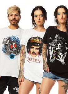 Kit 3 Camisetas de Rock