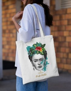 Ecobag Frida Kahlo Flores