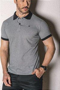 Camisa Gola Polo detalhes cinza