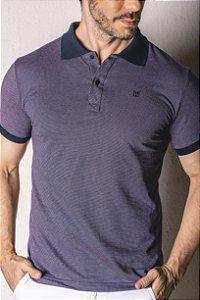 Camisa Gola Polo detalhes azul marinho