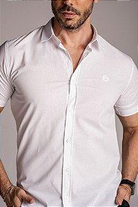 Camisa de Manga Curta Algodão lisa