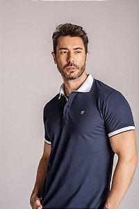 Camisa Gola Polo azul marinho lisa