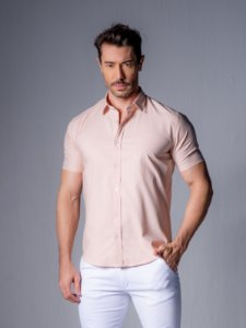 Camisa de Linho leve slim 100% algodão.