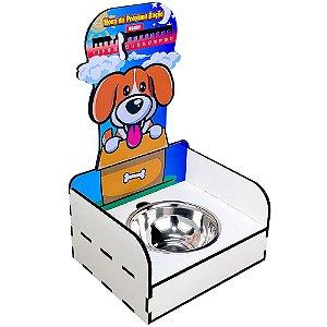 Suporte Ração Pet - Marcador Hora da Próxima Ração - Cachorro