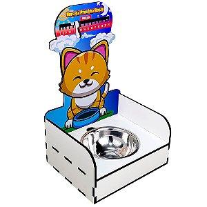 Suporte Ração Pet - Marcador Hora da Próxima Ração - Gato