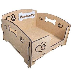 Cama 40x40cm - Caminha Sofá Personalizado Para Pet, Cachorro Em Mdf 6mm Crú