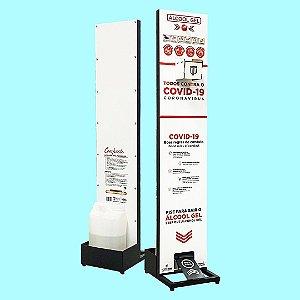 TOTENGEL COMPACTO - Dispenser para Alcool Gel acionado via Pedal